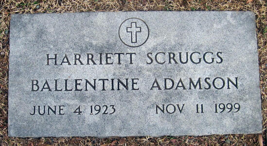 Harriett Ann <i>Scruggs</i> Ballentine Adamson