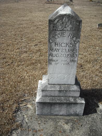 Zilpha Cassie A. <i>Rich</i> Hicks