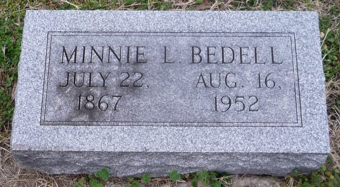 Minnie Lillian <i>Daniel</i> Bedell