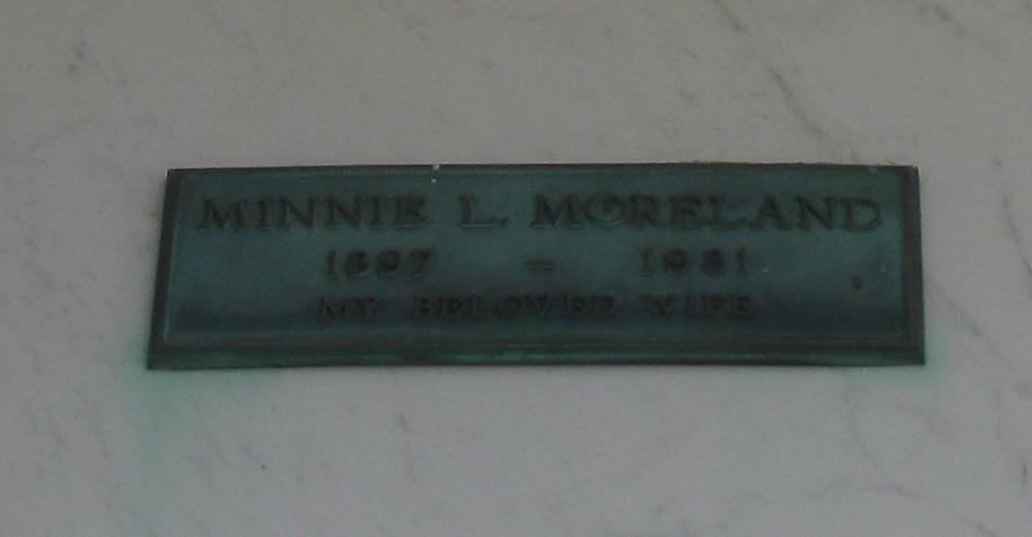 Minnie Lucille <i>Tjaden</i> Moreland