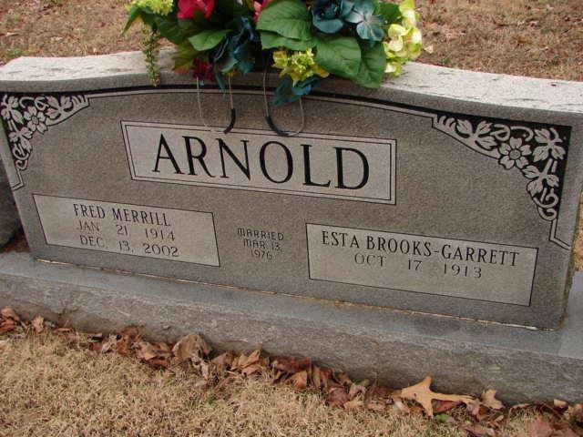 Esta May <i>Brooks</i> Arnold