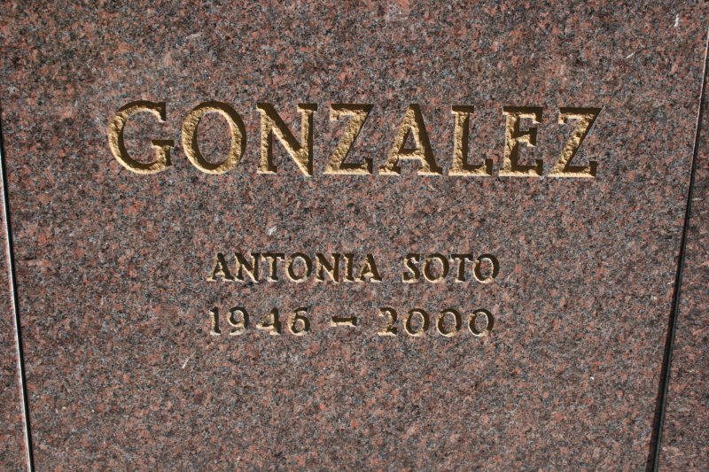 Antonia <i>Soto</i> Gonzalez