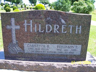 Garnetta B <i>James</i> Hildreth