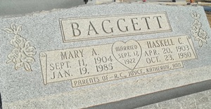 Mary Annie Ted <i>Winkler</i> Baggett