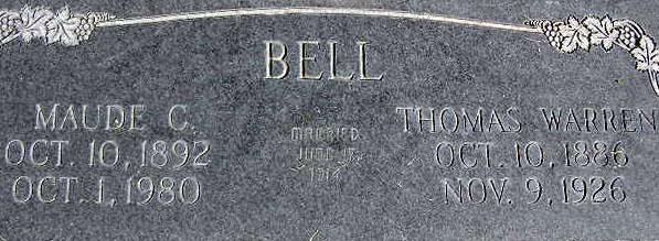 Maude Christina <i>Swain</i> Bell