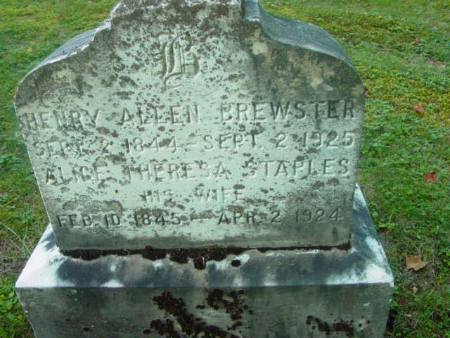 Alice Theresa <i>Staples</i> Brewster