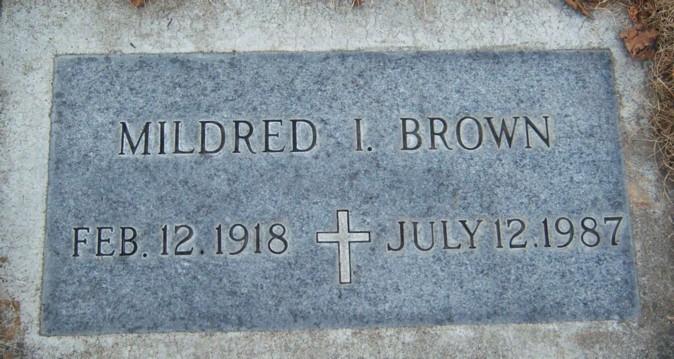 Mildred I. <i>Clardy</i> Brown
