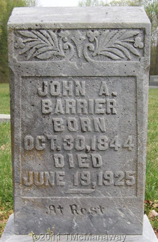 John A Barrier