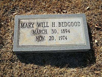Mary Will <i>Hall</i> Bedgood