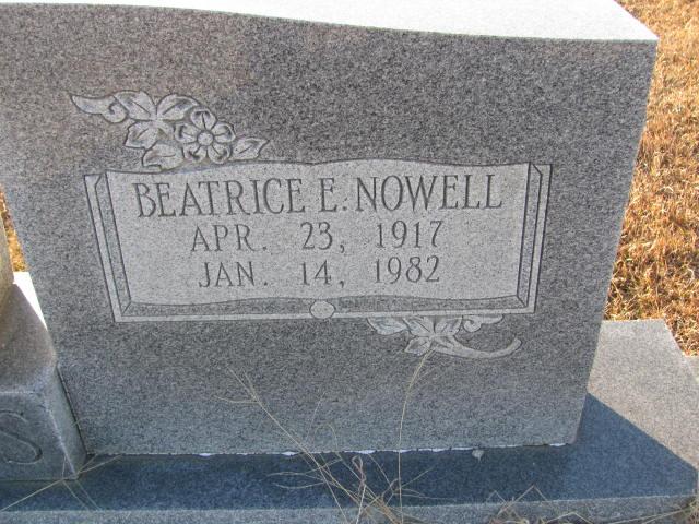Beatrice E <i>Nowell</i> Adams