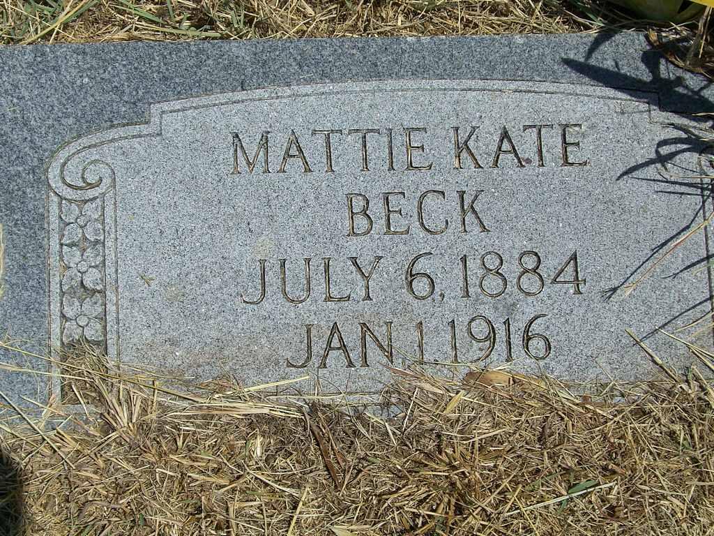 Martha Kate Mattie <i>Crabtree</i> Beck
