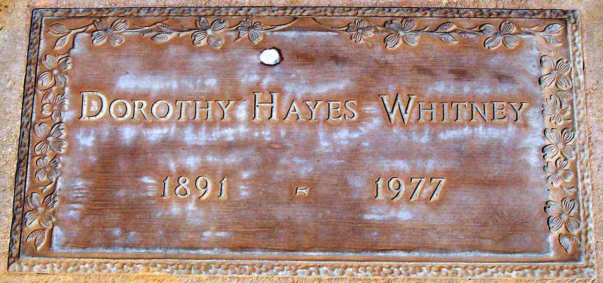 Dorothy <i>Hayes</i> Whitney