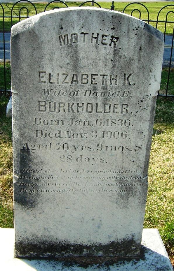 Elizabeth K. <i>Zook</i> Burkholder