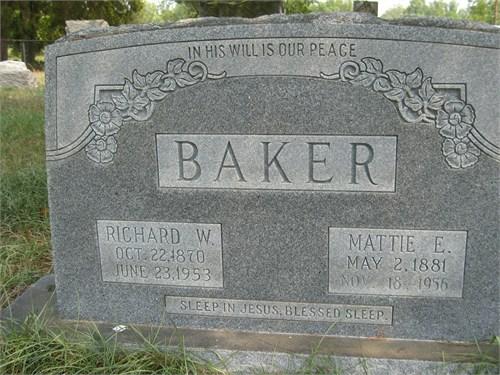 Mattie <i>Ethridge</i> Baker