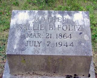 Sarah Belle Sallie <i>Shuler</i> Foltz