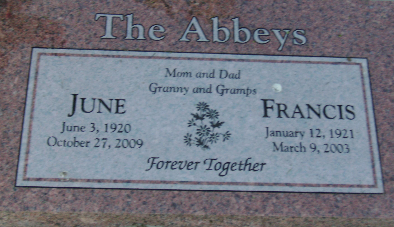 Francis Marion Fran Abbey