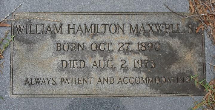 William Hamilton Maxwell, Sr