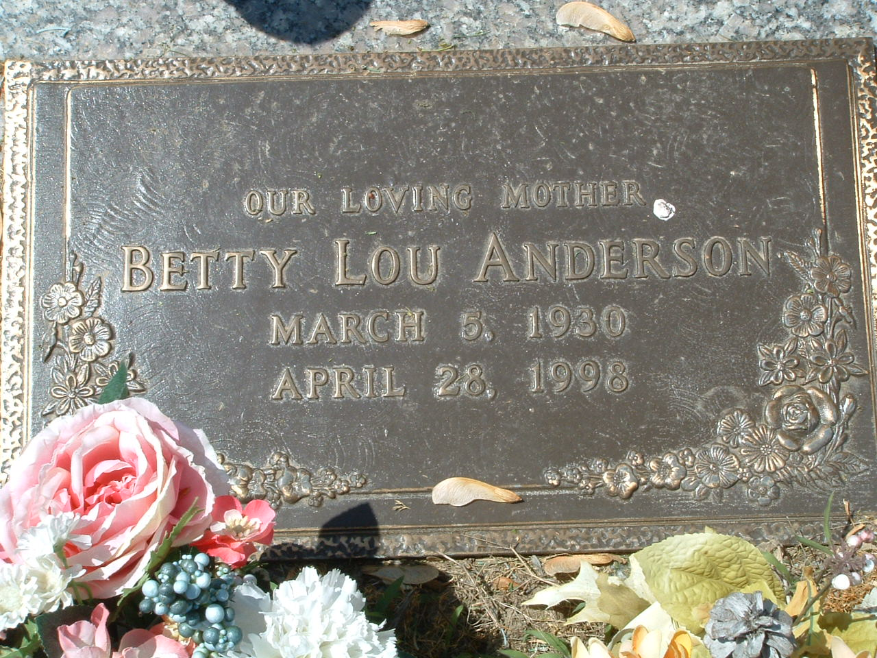 Betty Lou <i>Storey Potts</i> Anderson