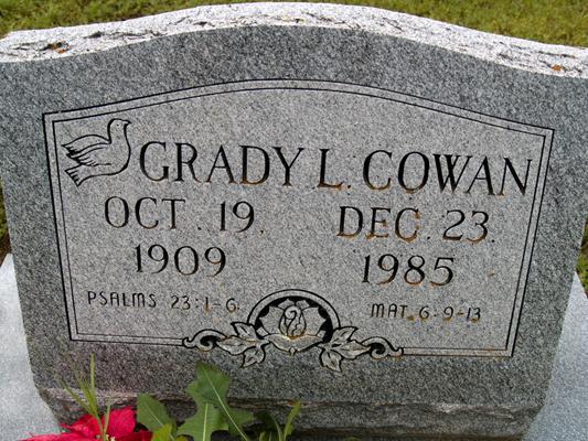 Grady L Cowan