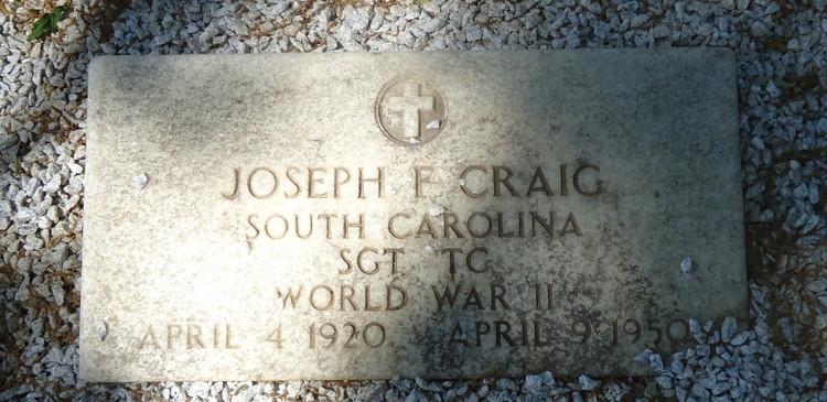 Joseph F Craig