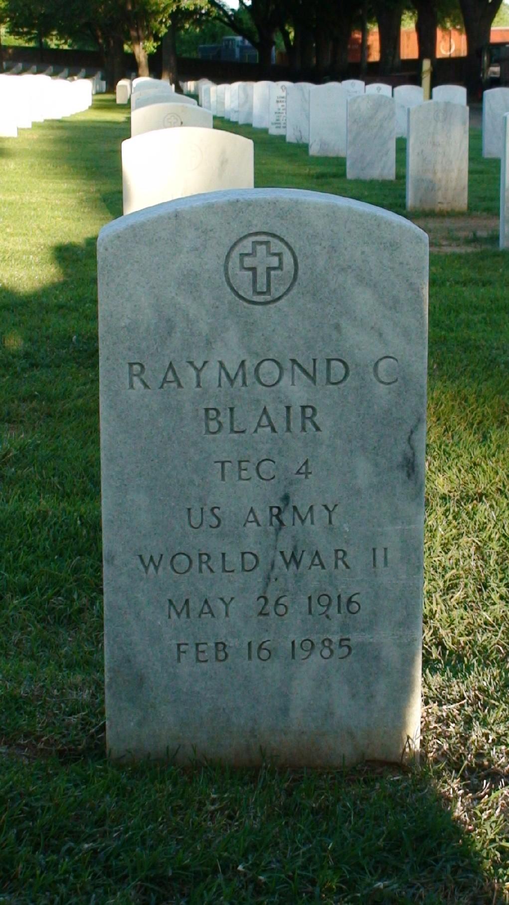 Raymond C Blair