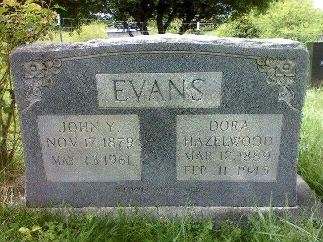 Dora Moss <i>Hazelwood</i> Evans