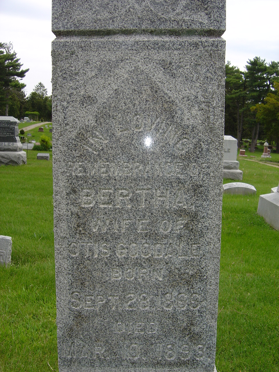 Bertha A <i>Parrish</i> Goodale