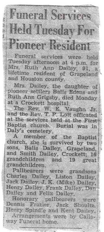 Ruth Ann <i>Edens</i> Dailey
