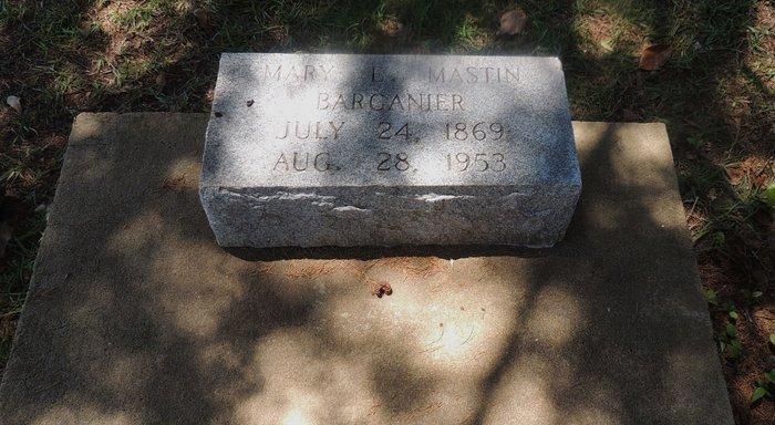 Mary L <i>Mastin</i> Barganier
