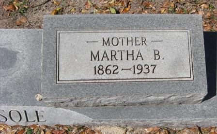 Martha B Mattie <i>Hoyt</i> Bedsole
