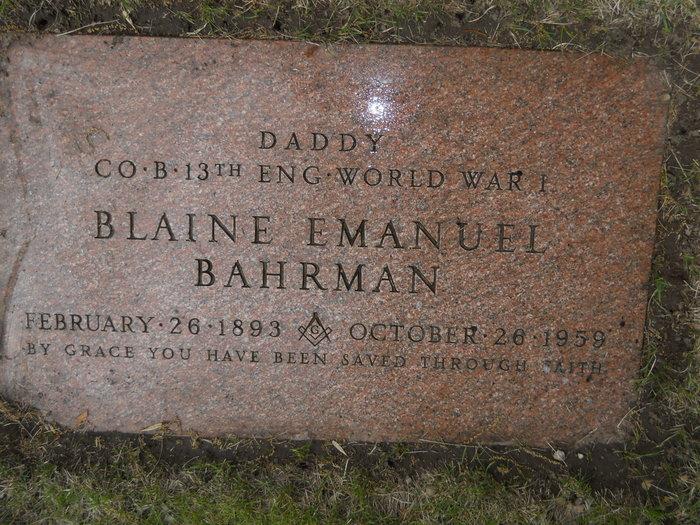 Blaine Emanuel Bahrman
