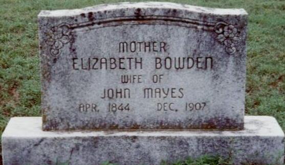 Elizabeth <i>Bowden</i> Mayes