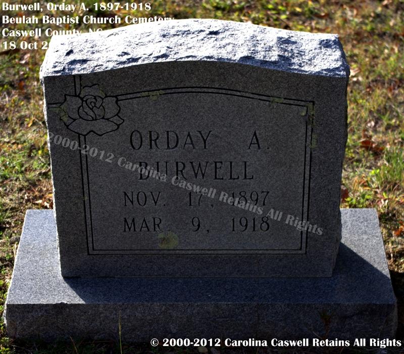 Orday A. Burwell