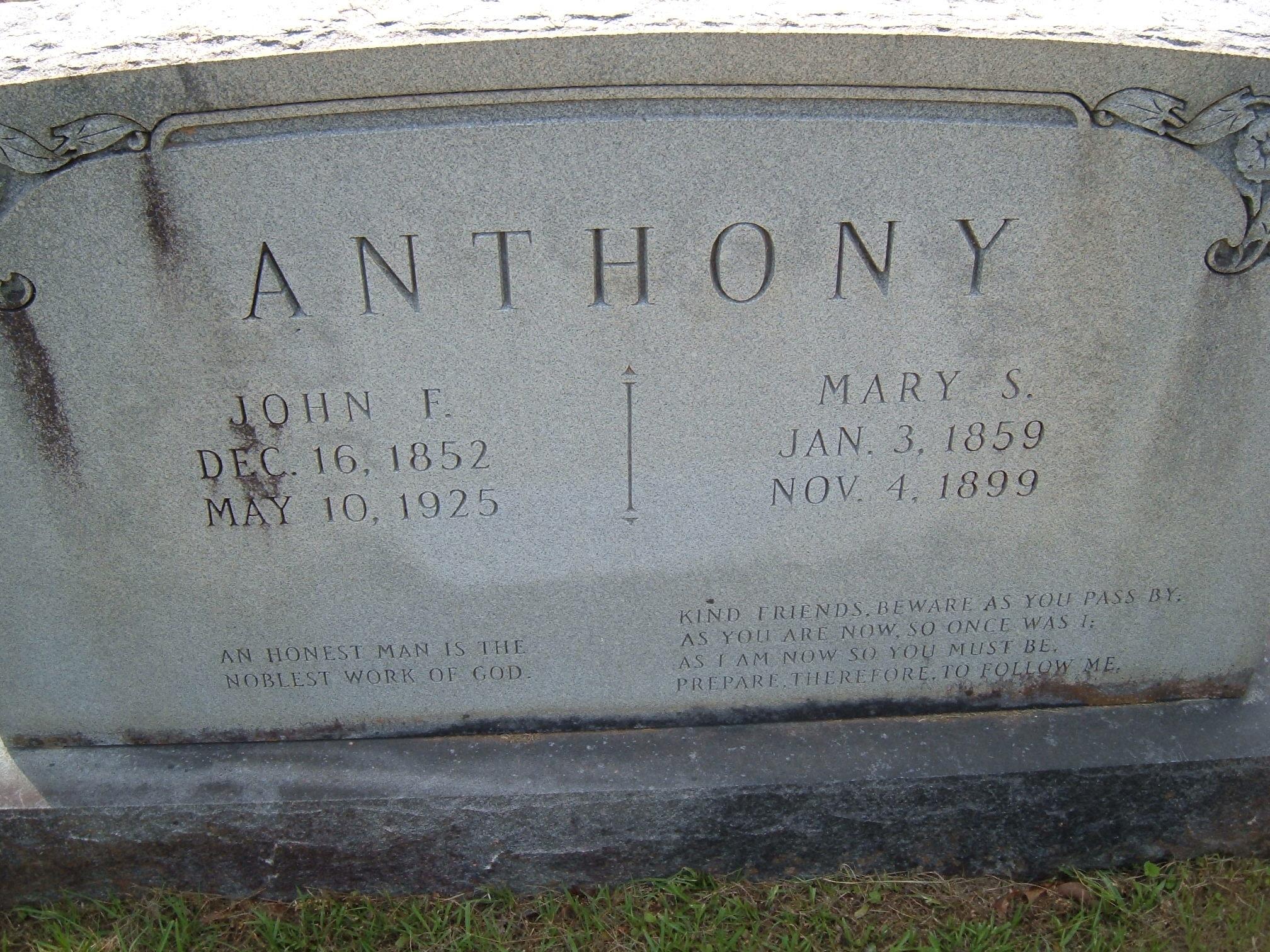 Mary Sue <i>Dedman</i> Anthony