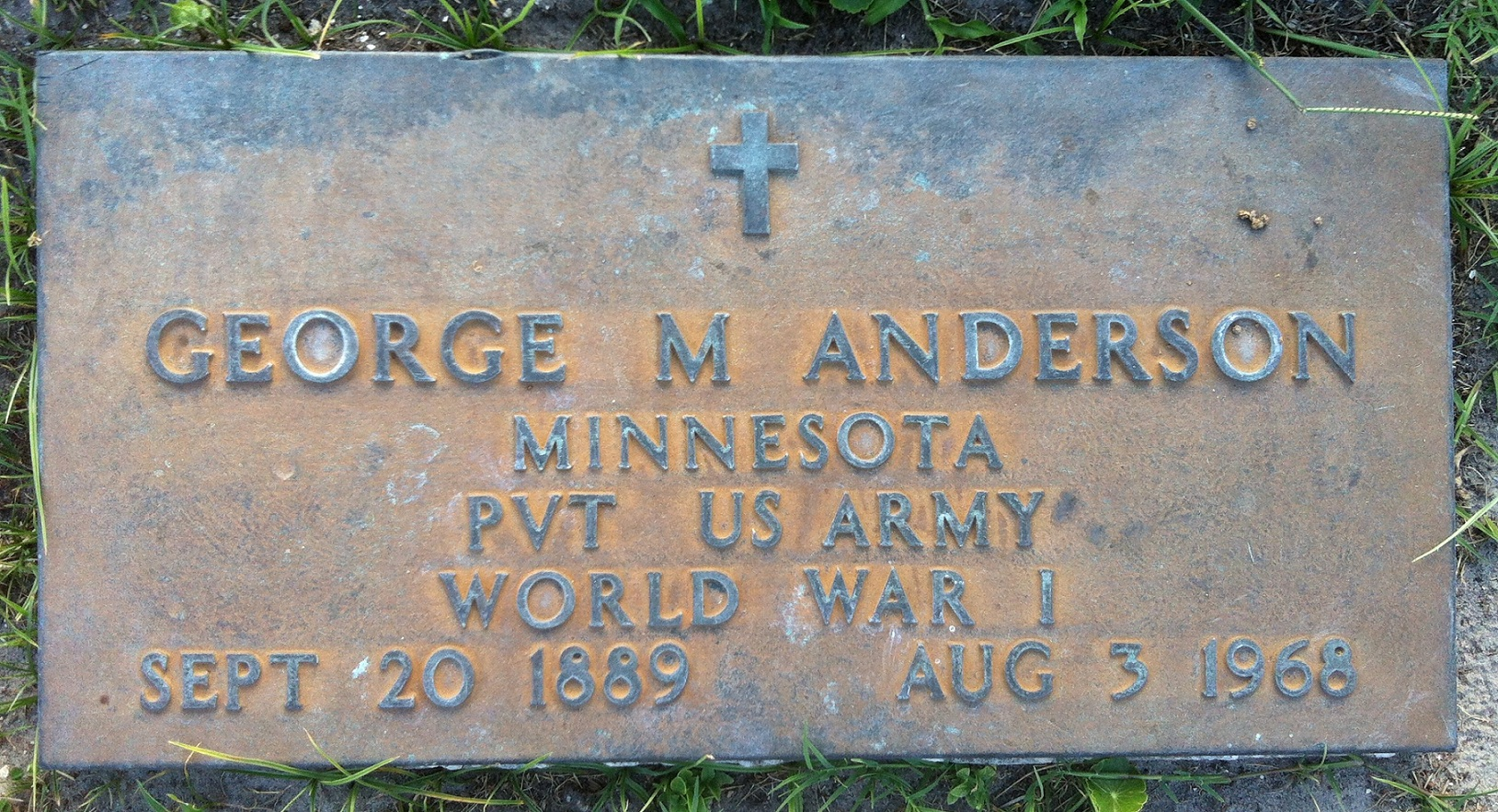 Pvt George M. Anderson