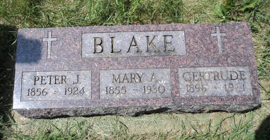 Mary Ann <i>McGovern</i> Blake