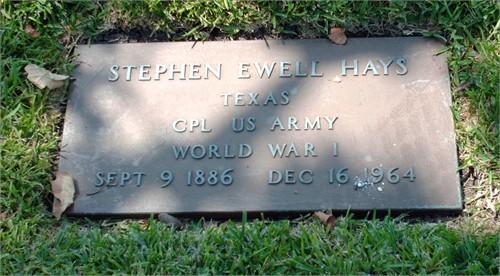 Stephen Ewell Hays, Sr