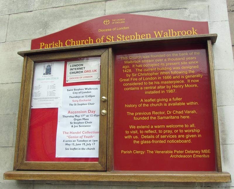 St Stephen Walbrook Churchyard