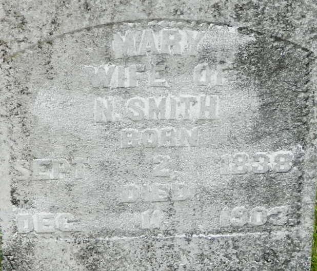 Mary <i>Musselwhite</i> Smith