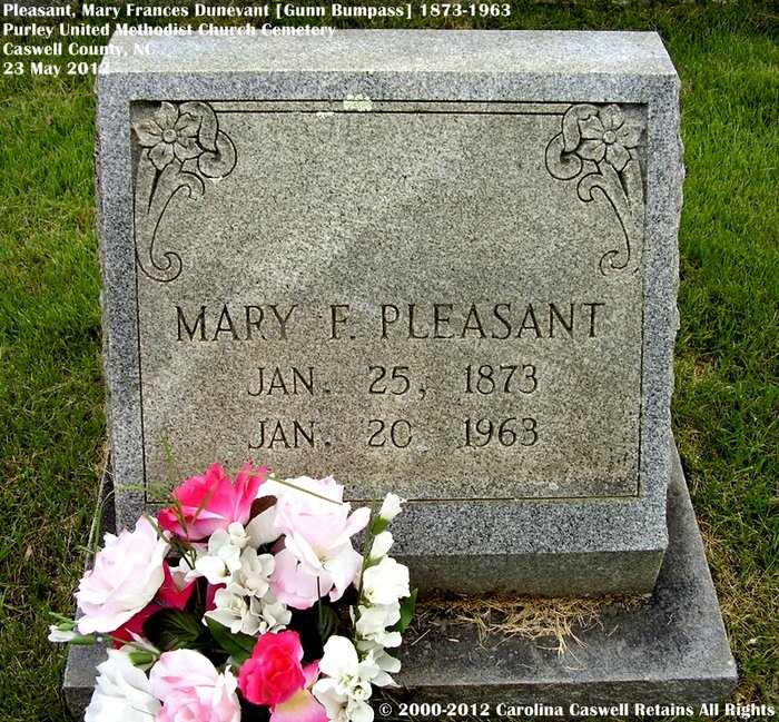 Mary Frances <i>Dunevant</i> Pleasant