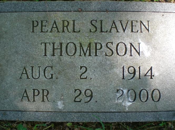 Pearl Kathrine <i>Slaven</i> Thompson