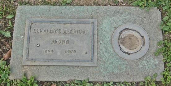 Geraldine <i>McKnight</i> Brown