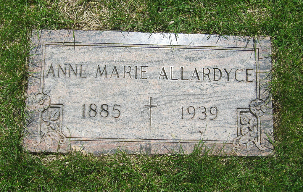 Anna Marie <i>Thoresen</i> Allardyce