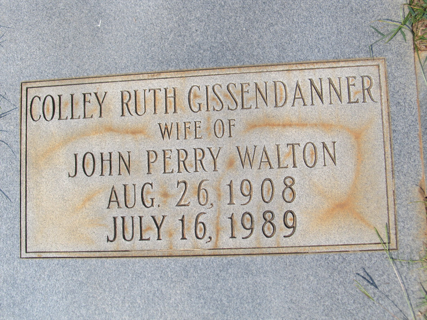 Colley Ruth <i>Gissendanner</i> Walton