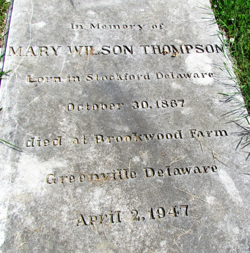 Mary Wilson Thompson (1867-1947) - Find A Grave Memorial