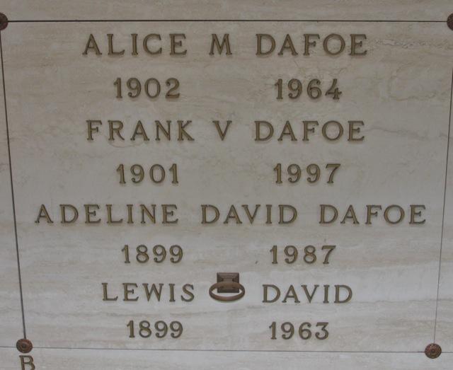 Adeline David <i>Adair</i> Dafoe
