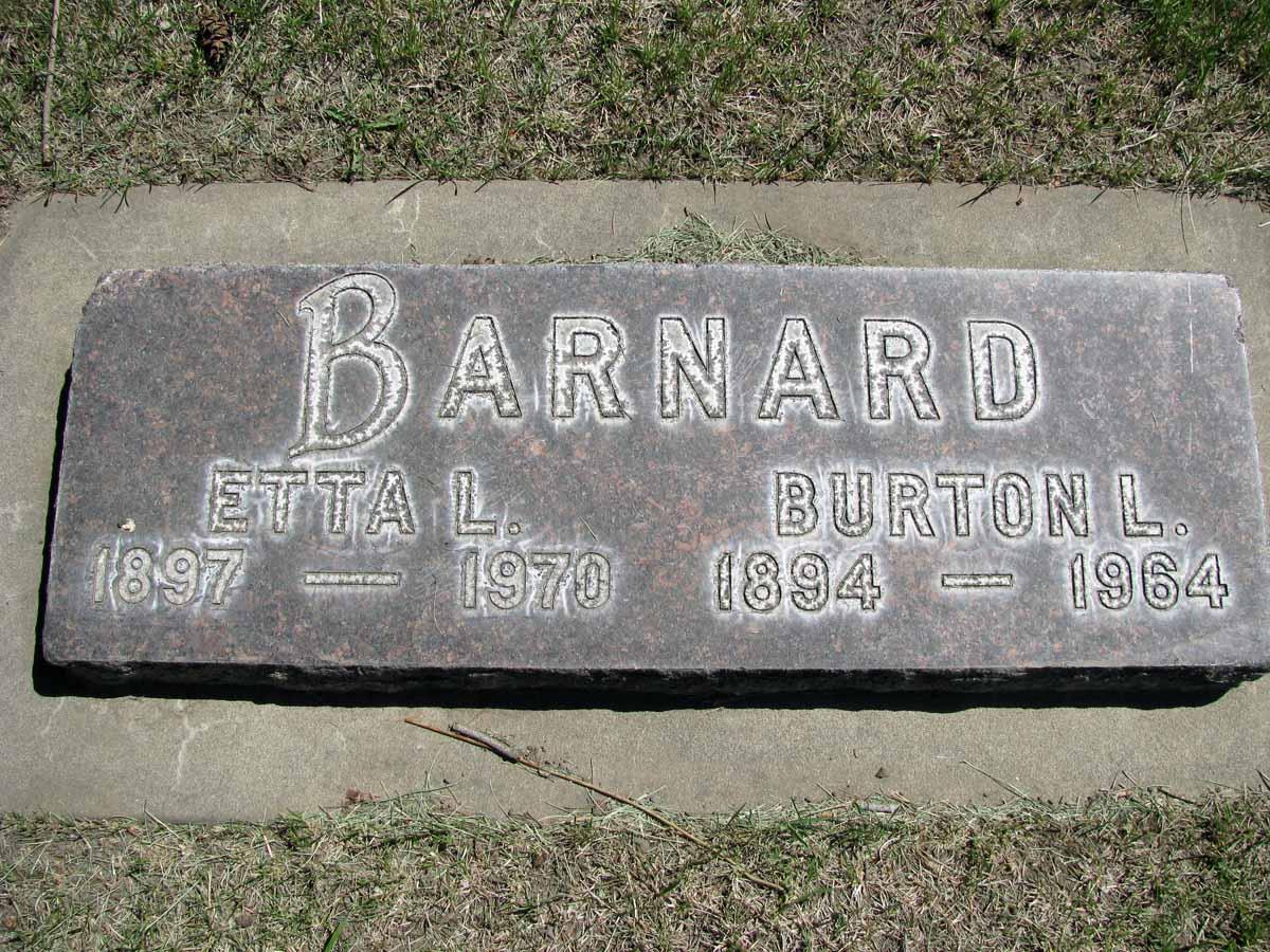 Etta Leola <i>Dencer</i> Barnard