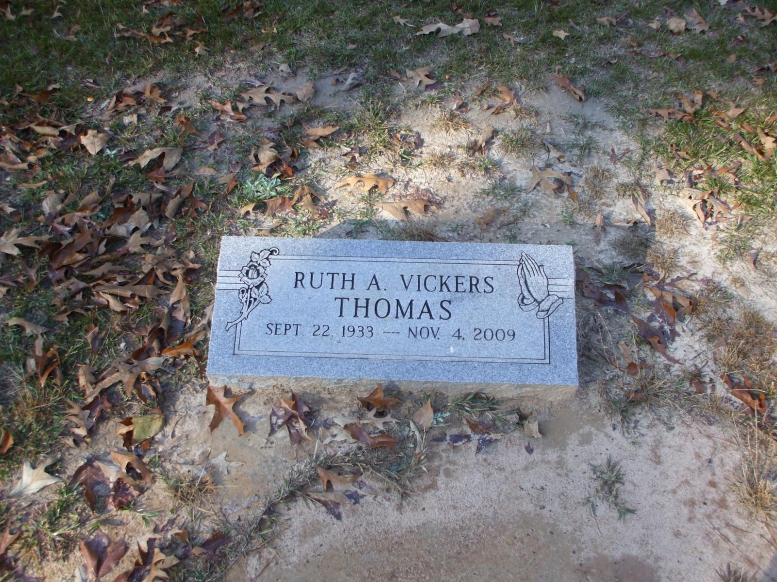 Ruth Ann <i>Vickers</i> Thomas