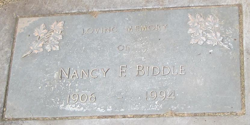 Nancy F. Nancie <i>Carlisle</i> Biddle