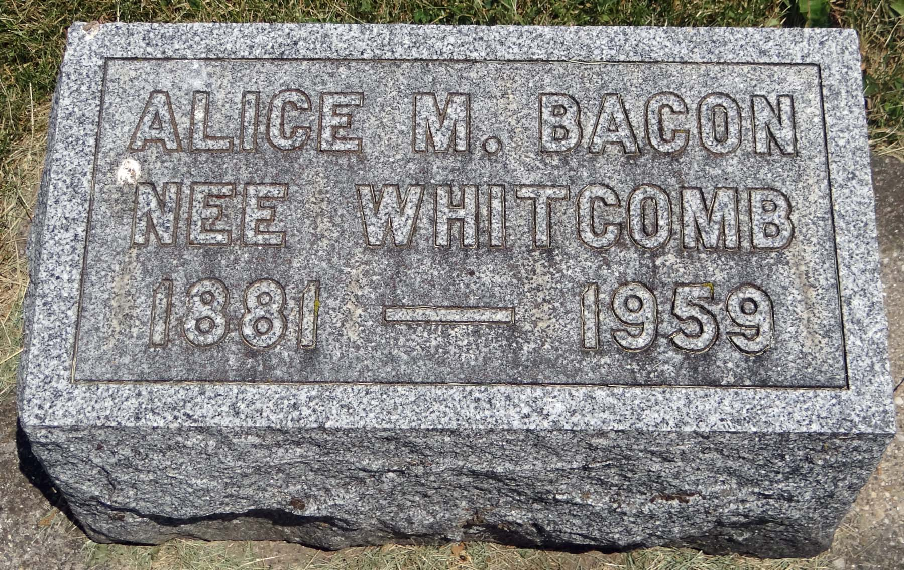 Alice M <i>Whitcomb</i> Bacon